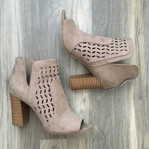 Nude Caged Booties